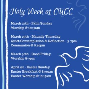 Maundy Thursday Worship – Community UCC